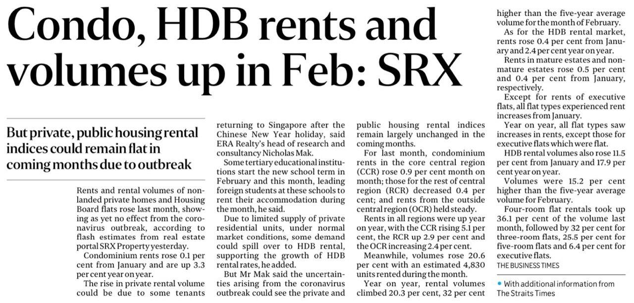 Condo-HDB-Rents-and-Volume-Up-In-Feb