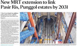 New-MRT-Extension-To-Link-Pasir-Ris-and-Punggol-Estates-By-2031
